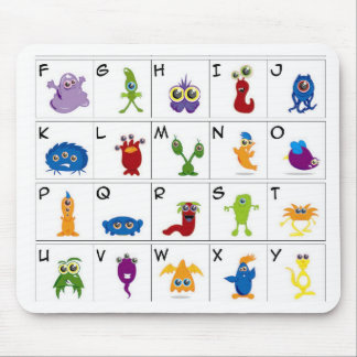 Code Key - Monsters Mouse Pad