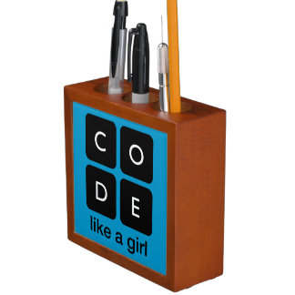 Code Like a Girl Desk Organizer
