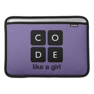 Code Like a Girl MacBook Air Sleeves