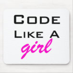 Code Like a Girl Mousepad