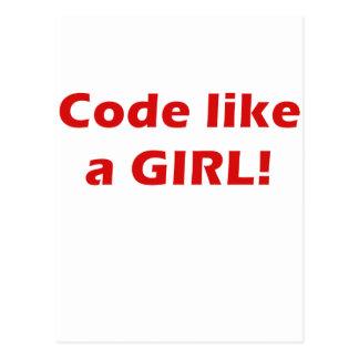 Code Like a Girl Postcard
