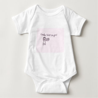 Code like a girl series baby bodysuit