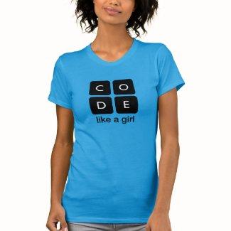 Code Like a Girl T Shirt