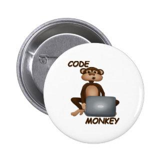 Code Monkey 2 Inch Round Button