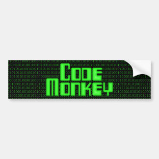 Code Monkey Bumper Sticker