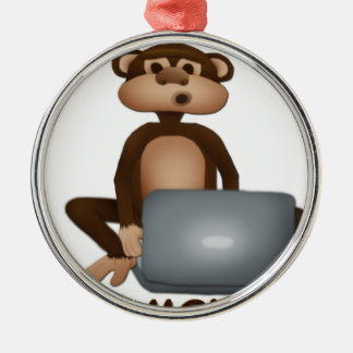 Code Monkey Metal Ornament