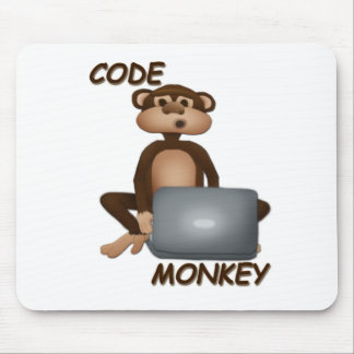 Code Monkey Mouse Pad