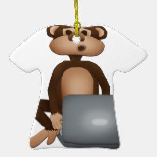 Code Monkey Ceramic T-Shirt Decoration