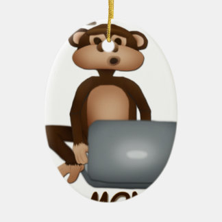 Code Monkey Ceramic Oval Decoration