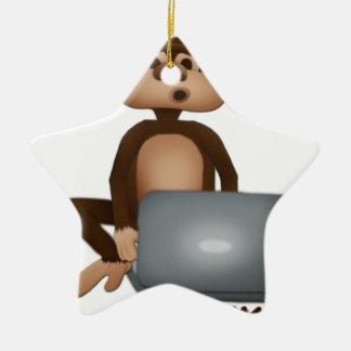 Code Monkey Ceramic Star Decoration
