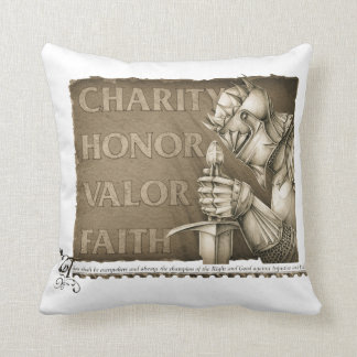 Code of Chivalry Throw Pillow