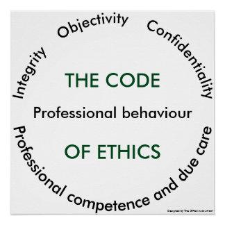"""Code of ethics - 5 fundamental principles"" Poster"