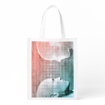 Professional Business Code of Ethics in Technology as a Business Concept Grocery Bag