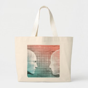 Professional Business Code of Ethics in Technology as a Business Concept Large Tote Bag