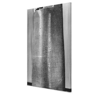 Code of Hammurabi, detail of column Canvas Print