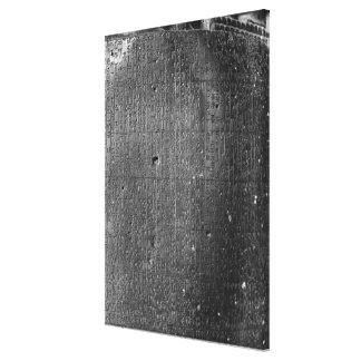 Code of Hammurabi, detail of column inscription Canvas Print