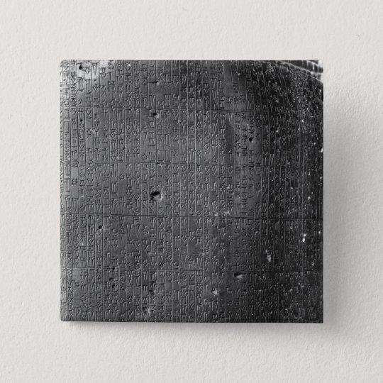 Code of Hammurabi, detail of column inscription Pinback Button