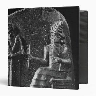 Code of Hammurabi, top of the stele 3 Ring Binder