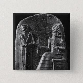 Code of Hammurabi, top of the stele Button