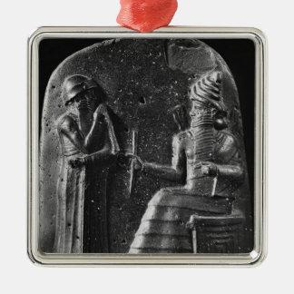 Code of Hammurabi, top of the stele Metal Ornament
