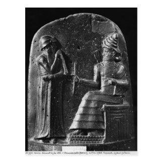 Code of Hammurabi, top of the stele Postcard