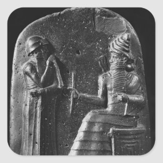 Code of Hammurabi, top of the stele Square Sticker