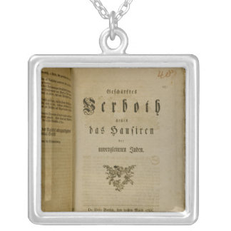 Code of Procedure from 1776 Square Pendant Necklace