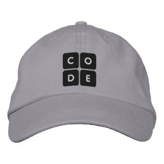 Code.org bordó el gorra gorra bordada