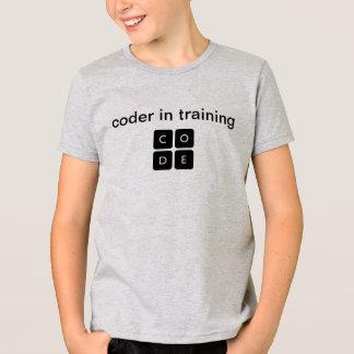 """Code.org """"codificador en la camiseta del niño del"""