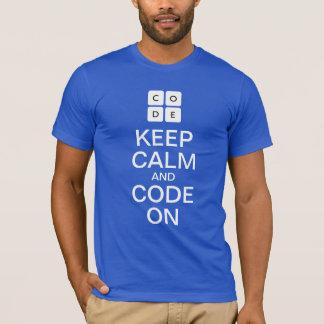 """Code.org """"guarda calma y código en"""" la camiseta"""