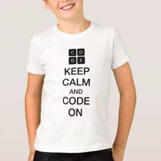"""Code.org """"guarda calma y código en """" remera"""