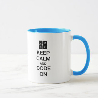 "Code.org ""Keep Calm and Code On"" Mug"