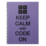 """Code.org """"Keep Calm and Code On"""" Notebook"""