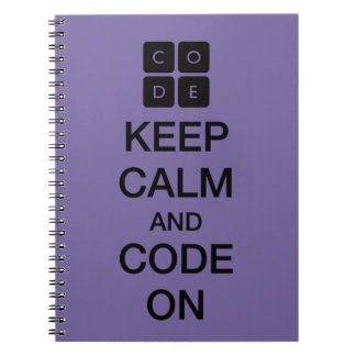 "Code.org ""Keep Calm and Code On"" Notebook"