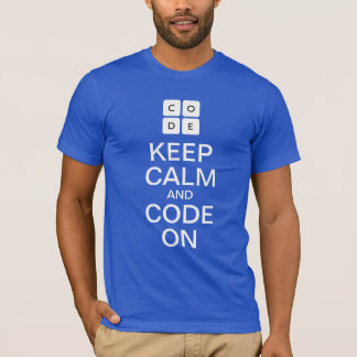 "Code.org ""Keep Calm and Code On"" T-shirt"