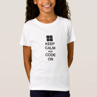 """Code.org """"Keep Calm and Code On"""" T-Shirt"""