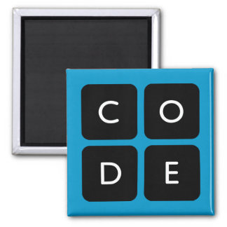 Code.org Logo 2 Inch Square Magnet