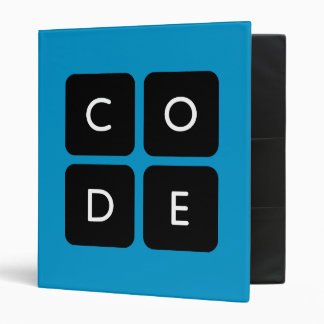 Code.org Logo 3 Ring Binder