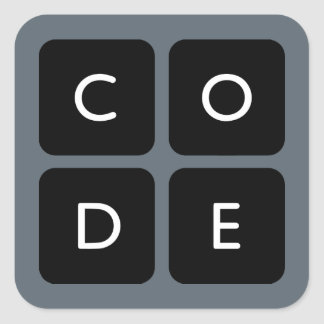 Code.org Logo Square Sticker