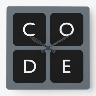 Code.org Logo Square Wall Clock