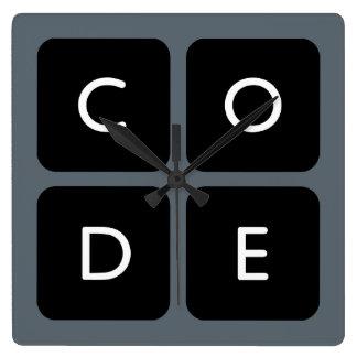 Code.org Logo Square Wallclock