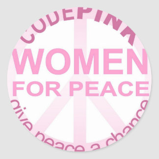 CODE Pink Women For Peace Classic Round Sticker