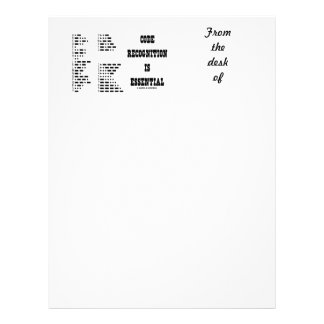 Code Recognition Is Essential (Morse Code) Letterhead