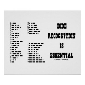 Code Recognition Is Essential (Morse Code) Poster