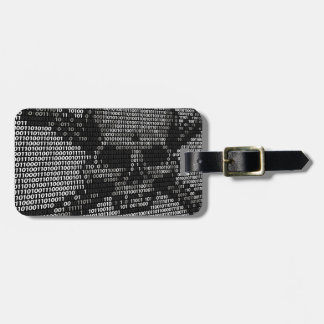 Code Skull and Crossbones Piracy Concept Luggage Tag