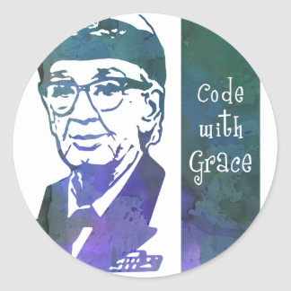 Code with Grace Classic Round Sticker