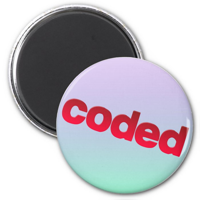 coded 2 inch round magnet