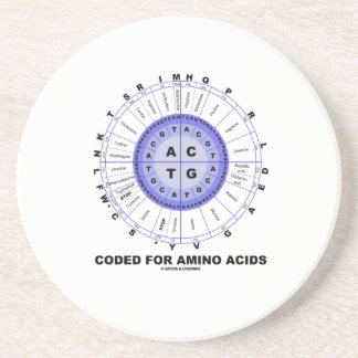 Coded For Amino Acids (Genetic Code DNA) Coaster