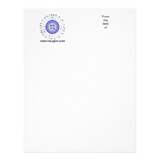 Coded For Amino Acids (Genetic Code DNA) Letterhead