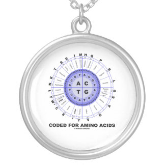 Coded For Amino Acids (Genetic Code DNA) Silver Plated Necklace